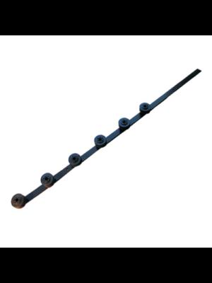 Flat bar straight - 6 line black